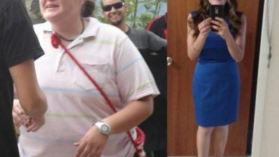 Эта девушка за 1,5 года она избавилась от 55 кг.