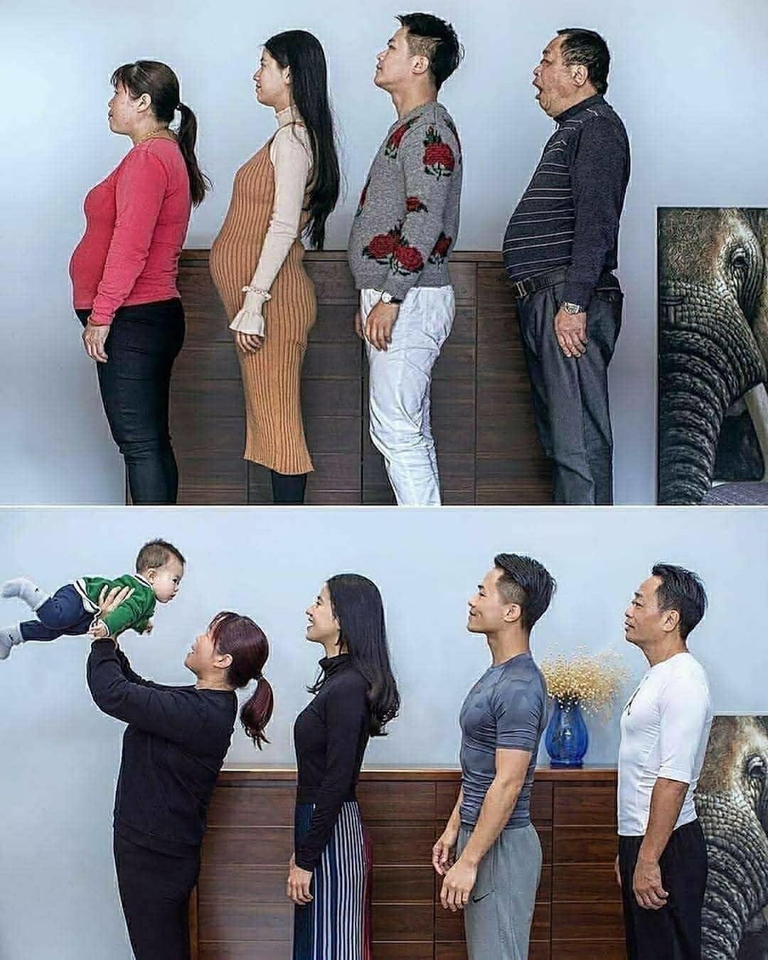 Семья до и после перехода на спорт