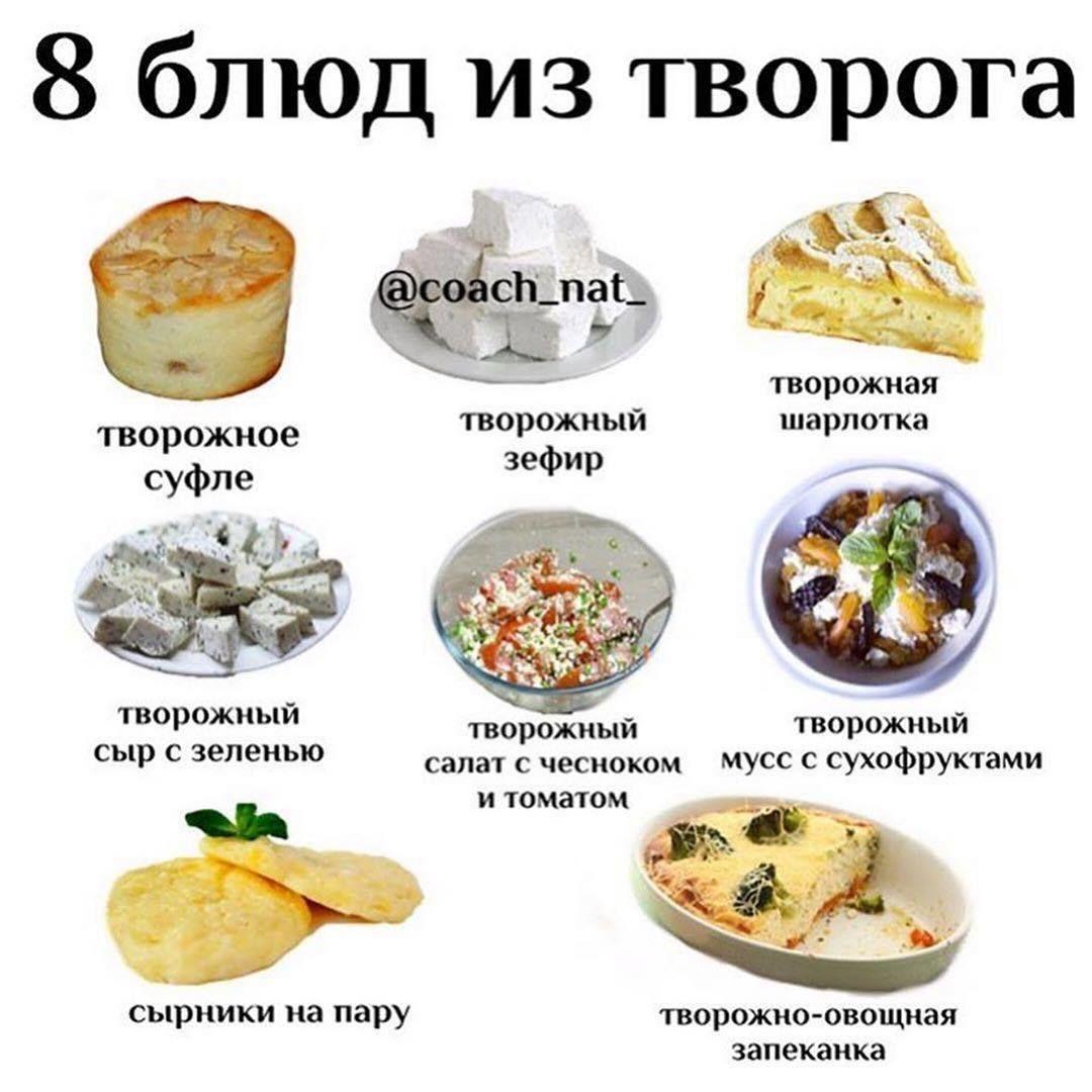 Подборка блюд из творога ⠀