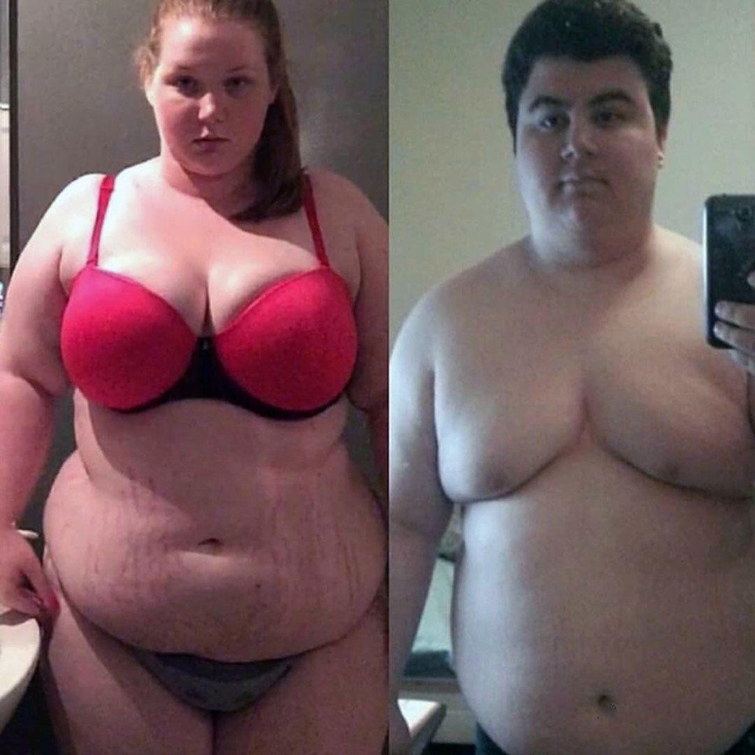 Пара решила вместе привести свои тела в порядок.