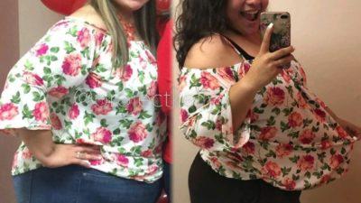 5 девушек в одной и той же одежде до и после похудения на 50-100 кг