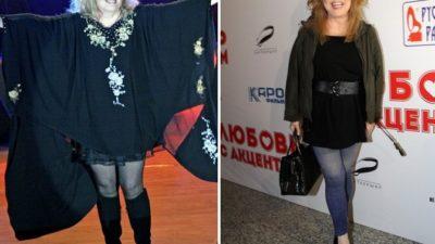 Алла Борисовна до и после похудения