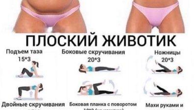 Подборка упражнений для плоского животика
