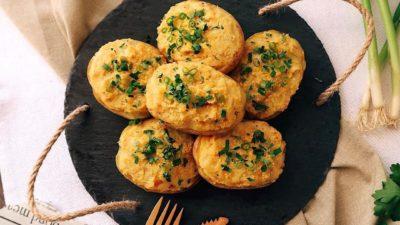 Картофельные лодочки с цветной капустой