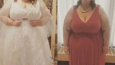 Ради ребенка от любимого она похудела на 140 кг