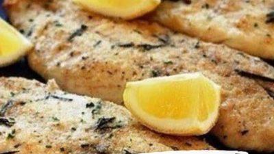 Запеченный минтай с лимоном