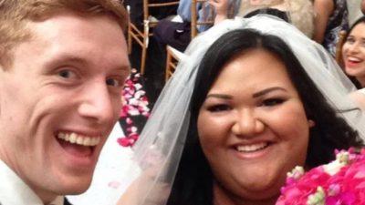 Необычная свадьба: толстушка вышла замуж за стройного парня
