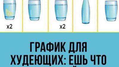 Шпаргалка по питьевому графику