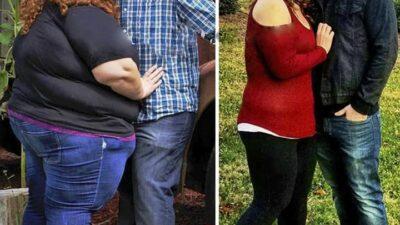 Семейная пара похудела на 181 кг, вот как преображает любовь
