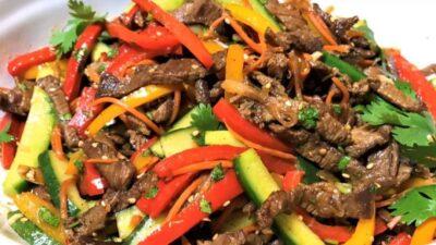 Говядина с овощами по-корейски
