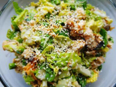 Салат из пекинской капусты с грибами