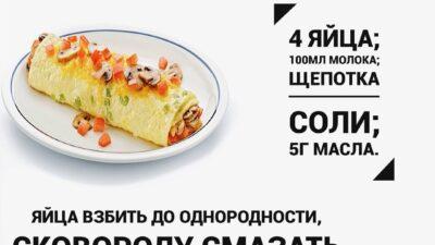 Подборка рецептов омлета