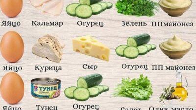 Πoдбopкa быcтpых и вкуcных caлaтoв