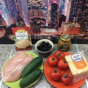 Просто чумовой салатик без майонеза,готовится быстро,съедается также