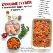 Куриные грудки с томатами