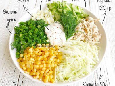 Легкий салатик - идеальный ужин!