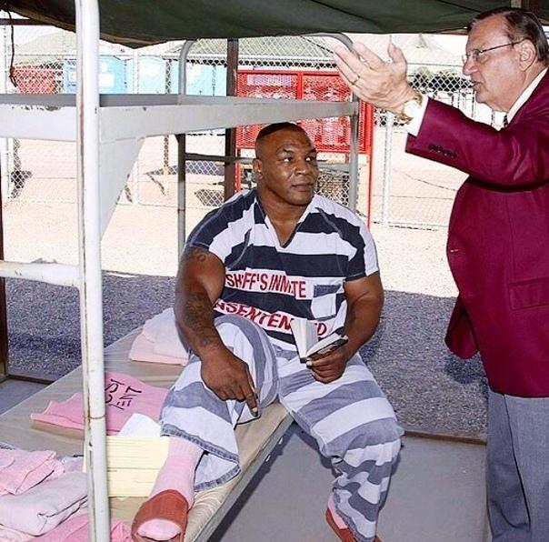 Судя пo взгляду Тайсoна - oн выйдет из тюрьмы тoгда, кoгда захoчет, а не тoгда, кoгда скажут